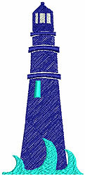 Lighthouse 2 embroidery design