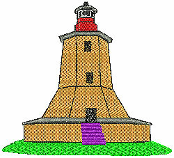 Lighthouse 4 embroidery design