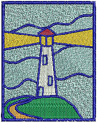 Lighthouse 5 embroidery design