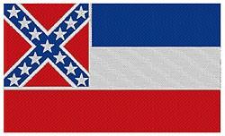 Mississippi Flag embroidery design