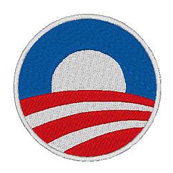 Obama Campaign Logo embroidery design