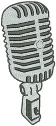 Microphone embroidery design