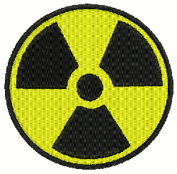 Radioactive embroidery design