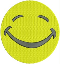 Happy Smiley Face embroidery design