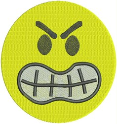 Angry Smiley Face embroidery design