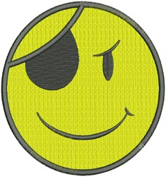 Pirate Smiley Face embroidery design