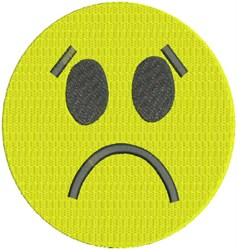 Sad Smiley Face embroidery design
