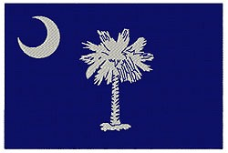 South Carolina Flag embroidery design