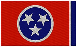 Tennessee Flag embroidery design