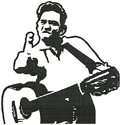 Johnny Cash embroidery design