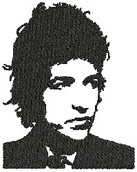 Bob Dylan embroidery design