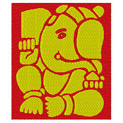 Elephant Graphic 2 embroidery design