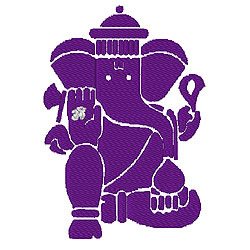 Elephant Graphic 5 embroidery design