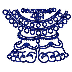 Eastern God embroidery design