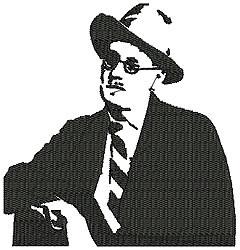 James Joyce embroidery design