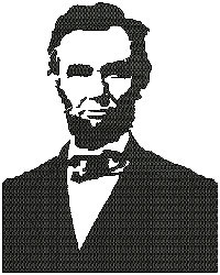 Abraham Lincoln embroidery design