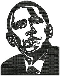 Barack Obama embroidery design
