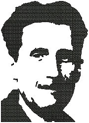 George Orwell embroidery design