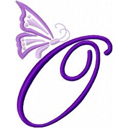 Butterfly Alphabet embroidery design