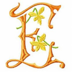 Yellow Flower ABC embroidery design