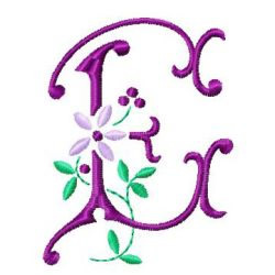 Floral ABC embroidery design