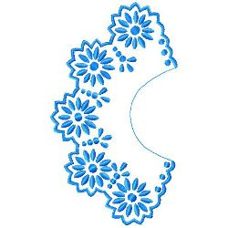 Flower Collar embroidery design