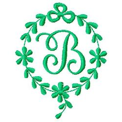 Monogram B embroidery design