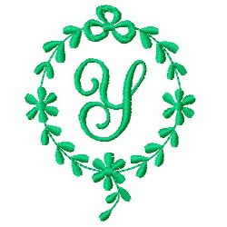 Monogram Y embroidery design