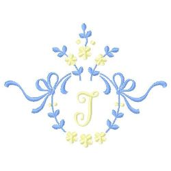 Floral Monogram I embroidery design