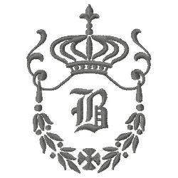 Regal Monogram B embroidery design