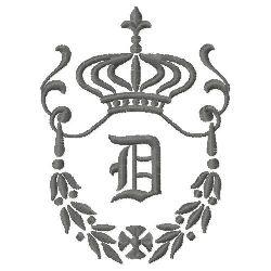 Regal Monogram D embroidery design
