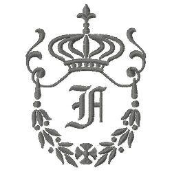 Regal Monogram F embroidery design