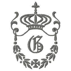 Regal Monogram G embroidery design
