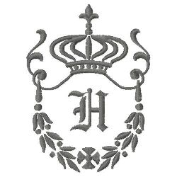 Regal Monogram H embroidery design