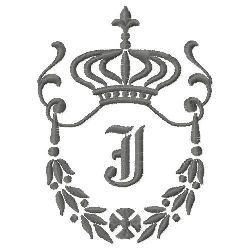Regal Monogram J embroidery design