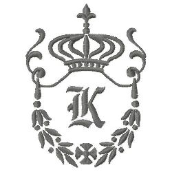 Regal Monogram K embroidery design