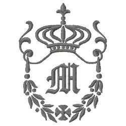 Regal Monogram M embroidery design