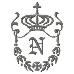 Regal Monogram N embroidery design