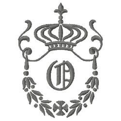 Regal Monogram O embroidery design