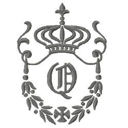 Regal Monogram Q embroidery design