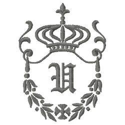 Regal Monogram U embroidery design
