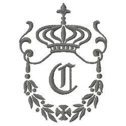 Regal Monogram C embroidery design
