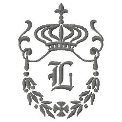 Regal Monogram L embroidery design