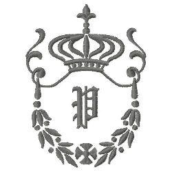 Regal Monogram P embroidery design