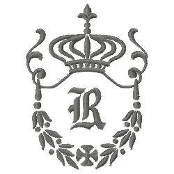 Regal Monogram R embroidery design