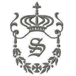 Regal Monogram S embroidery design