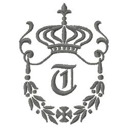 Regal Monogram T embroidery design