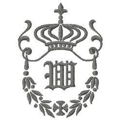 Regal Monogram W embroidery design