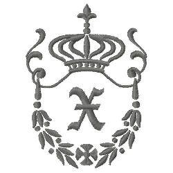 Regal Monogram X embroidery design