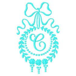 Monogram C embroidery design